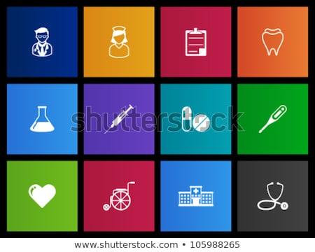 Gyógyszer ikonok metró orvosi szimbólumok emberi Stock fotó © sahua