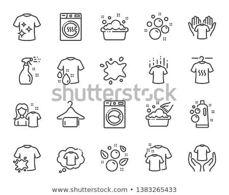 Serviette cintre ligne icône web mobiles Photo stock © RAStudio