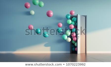 Színes nyitva ajtók illusztráció izolált absztrakt Stock fotó © get4net