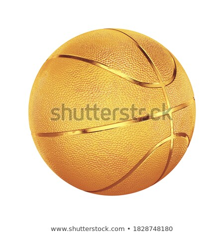 Dorado baloncesto campo 3d cuadrados imagen Foto stock © Koufax73