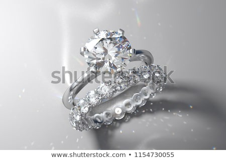 diamond gold wedding engagement band ring stock photo © fruitcocktail