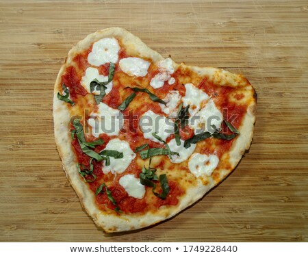 Fresh personal sized vegetarian pizza Stock photo © ozgur