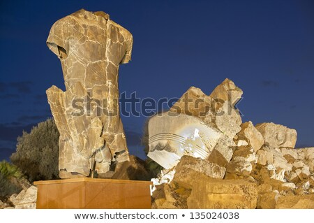 Hercules Temple ancient columns, Italy, Sicily, Agrigento Stock photo © ankarb