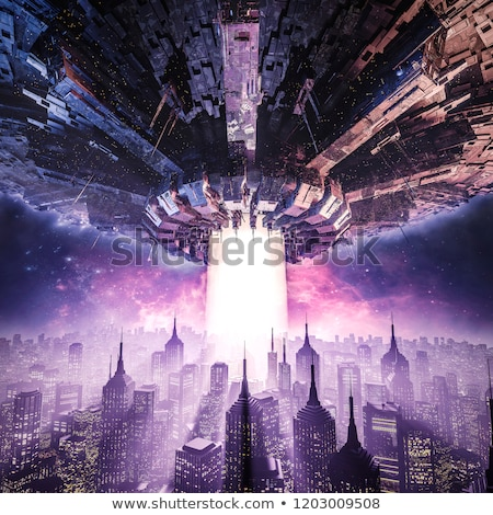 3D science fiction scene Stock photo © kjpargeter