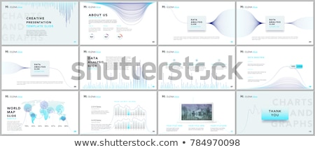 clean infographic layout template for data and information analysis stock photo © davidarts