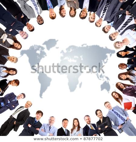 3D · fehér · férfi · tart · bolygó · kezek · izolált - stock fotó © make