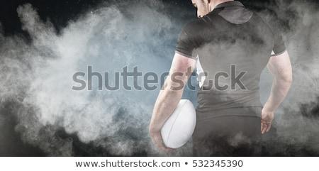 厳しい ラグビー プレーヤー ボール 白 ストックフォト © wavebreak_media