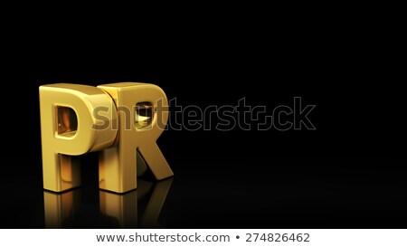 Pr preto deslizar ouro acrônimo reflexão Foto stock © timbrk