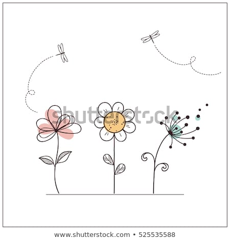 doodle flowers set stock photo © pakete
