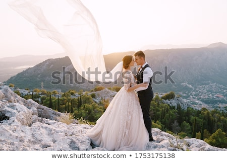 Fine art photo of handsome couple Stock photo © konradbak