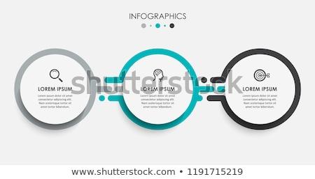 インフォグラフィック デザイン ベクトル ビジネス オプション 手順 ストックフォト © graphicyazz