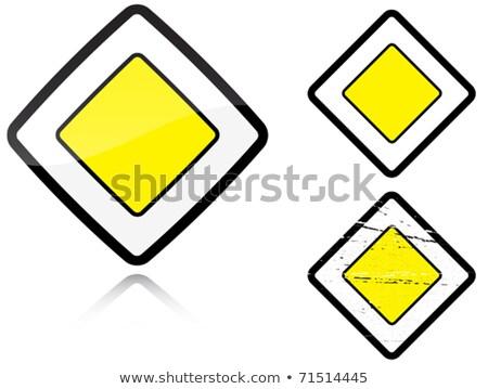 Stock fotó: Szett · fő- · út · jelzőtábla · izolált · fehér