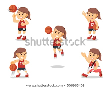Stock photo: attracting basketball player is an attractive woman