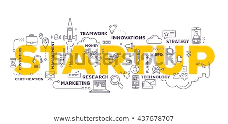 Puzzle with word Startup Stock photo © fuzzbones0
