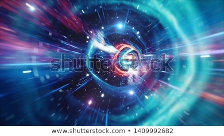 Time travel concept, fast speed motion through the tunnel Stock photo © stevanovicigor