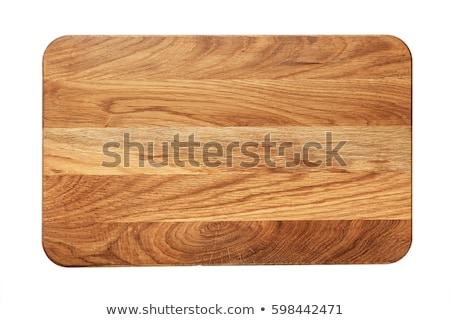 Planche à découper cuisine cuisson outil coutellerie bois Photo stock © M-studio