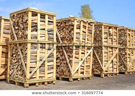 közelkép · tűzifa · köteg · tűzhely · fűtés · üzemanyag - stock fotó © andreasberheide