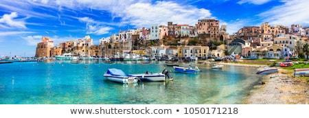 İtalya sahil görmek gökyüzü mavi ev Stok fotoğraf © mariephoto