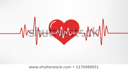 heart pulse with red heart shape stock photo © grafistart