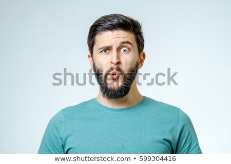 Young male model with funny hair with expression on face Stock photo © zurijeta