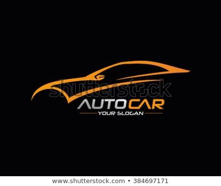 Stock fotó: Autó · autó · logo · sablon · sebesség · vektor