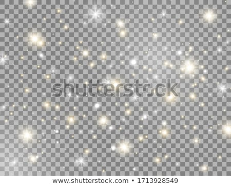 Christmas decorations with snow and sun glare Stock photo © -Baks-