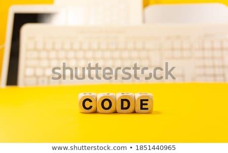 számítógép · forrás · kód · programozós · kézírás · 3d · illusztráció - stock fotó © zerbor