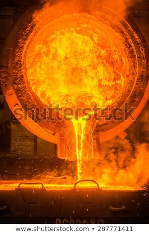 Staal pollepel werk oranje Rood Stockfoto © mady70