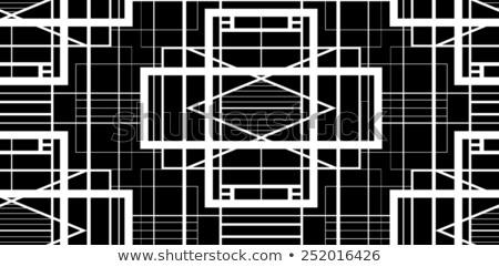 Vector Seamless Black and White Halftone Vertical Stripes Pattern Stock photo © CreatorsClub