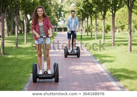 ストックフォト: 少女 · 若い女の子 · 自然 · 子 · 夏 · 自転車