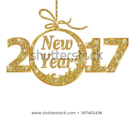Złoty wektora szczęśliwego nowego roku streszczenie złota Zdjęcia stock © -Baks-