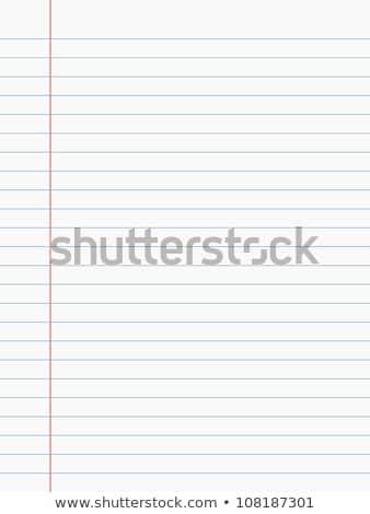notebook · lap · fehér · papír · szakadt · könyv - stock fotó © day908
