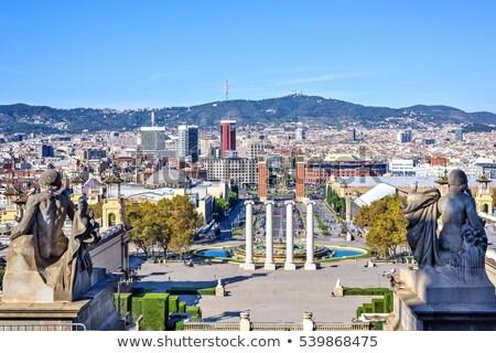 monumentális · Barcelona · kilátás · utca · homlokzat · Spanyolország - stock fotó © frimufilms
