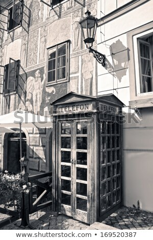 Czech phone booth Stock photo © Artlover