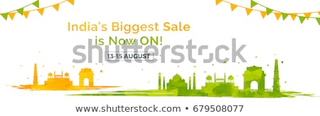Republic Day of India sale banner with Indian flag tricolor Stock photo © vectomart