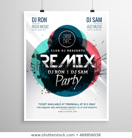 remix club party flyer poster template Stock photo © SArts