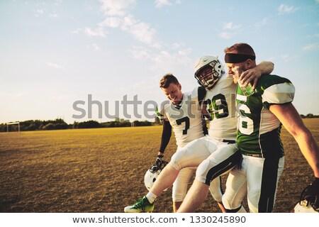 Stock foto: Verletzt · Spieler · Fußball · Spiel · grünen · läuft