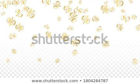 goud · procent · teken · 50 · af · korting - stockfoto © oakozhan