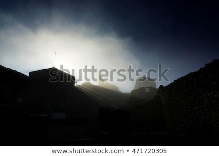 Pormenor castelo Hungria montanha azul viajar Foto stock © digoarpi