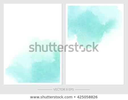 farby · splash · kolekcja · niebieski · odizolowany · biały - zdjęcia stock © sarts