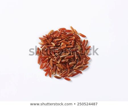 rosso · riso · legno · raccogliere · sfondo · bianco - foto d'archivio © Digifoodstock