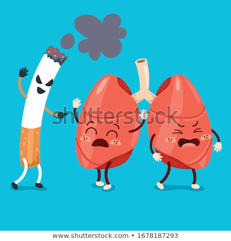 Healthy and unhealthy brain arteries Stock photo © Tefi