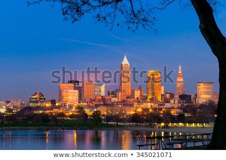 şehir · merkezinde · Ohio · gün · batımı · şehir · ufuk · çizgisi - stok fotoğraf © benkrut