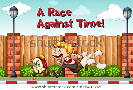 Idiom poster for race agaist time Stock photo © bluering