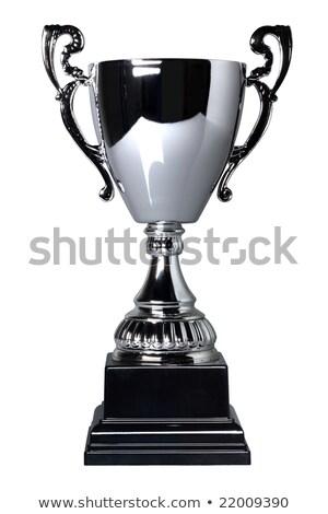 fogkő · díj · izolált · fehér · fém · sportok - stock fotó © bigalbaloo