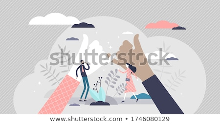 Gancho acuerdo apretón de manos ilustración diseno aislado Foto stock © alexmillos