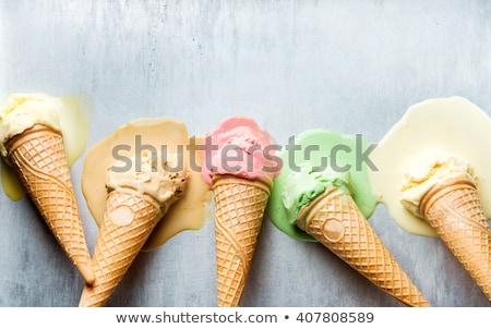 мороженым · фотография · чаши · белый - Сток-фото © digifoodstock