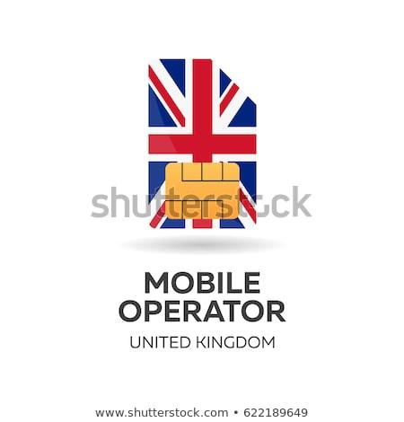 United Kingdom mobile operator. SIM card with flag. Vector illustration. Stock photo © Leo_Edition