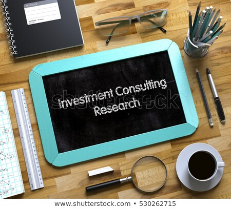 Stockfoto: Investment Consulting Solutions On Small Chalkboard 3d Illustration
