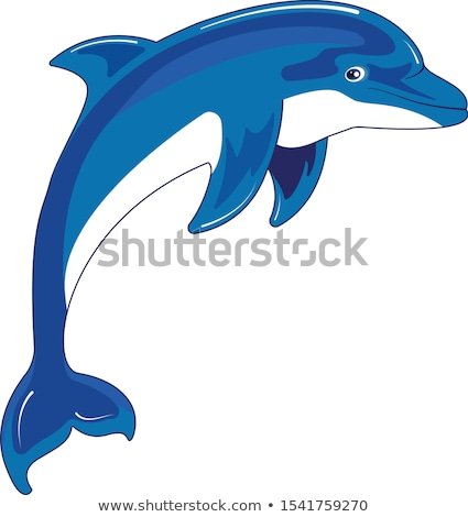 Vector Cartoon estilo ilustración delfines icono Foto stock © curiosity